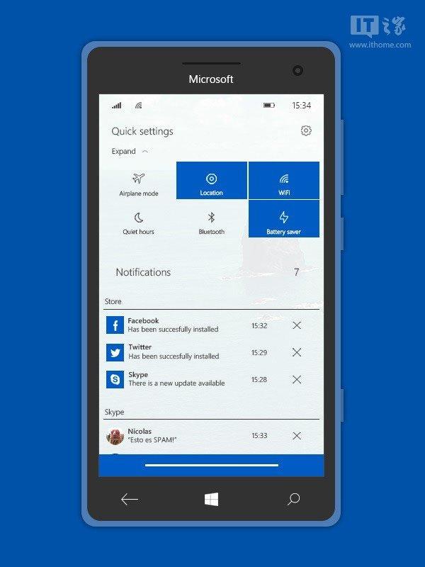 "Win10系统之家讯: Win10 Mobile正式版即将来袭其界面和功能基本上已经定型,当然并没有一成不变的东西,在未来的更新中,微软肯定还会对界面进行调整,现在我们先来看一看网友们对这款系统的界面都有哪些期待。 一位来自DeviantArt名为lukeled的用户分享了几张自己设计的Win10 Mobile系统界面图,这套界面与现有的界面差别并不是很大,只是在细节上进行了调整,这位用户将其命名为""Emerald""(翡翠)。 从图中可以看到,顶部图标间距比较大,开始屏幕中的磁贴宽"